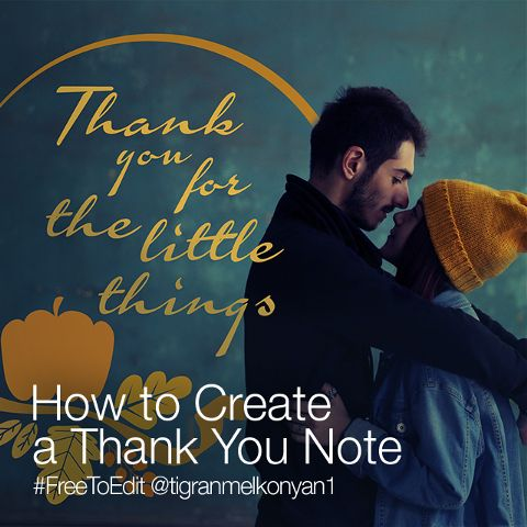 create a thank you note