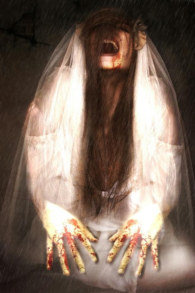 zombie bride vintage picture