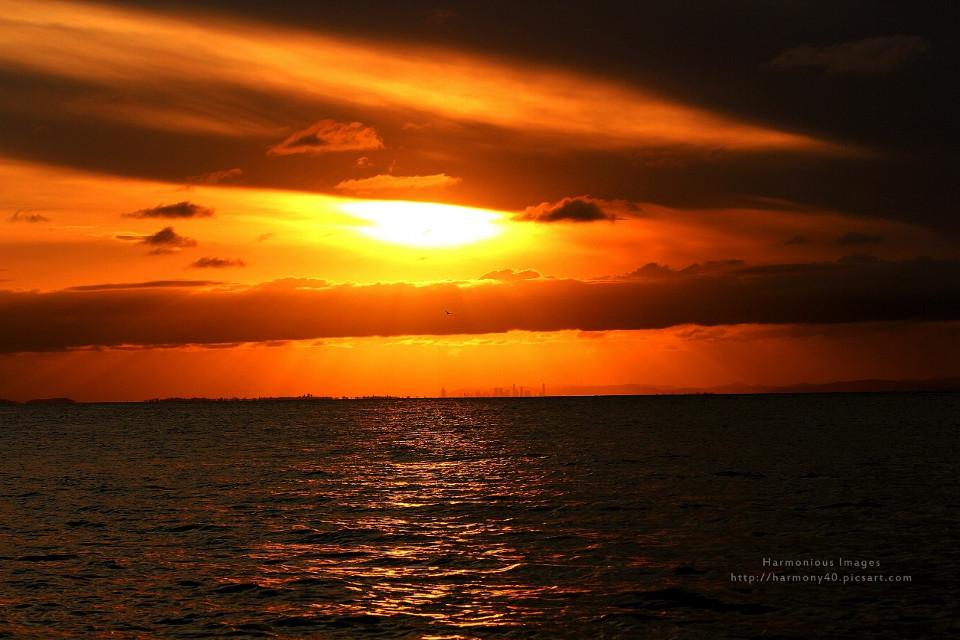 ACROSS THE BAY  #MoretonBay #sunset #Australia