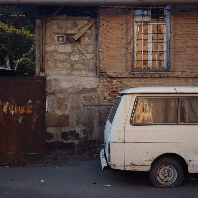 #old #car #building #autumn #photography