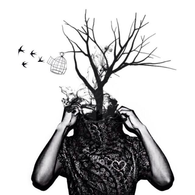Spirited Growth #art #birds #freedom #trees #nature #edit #freetoedit