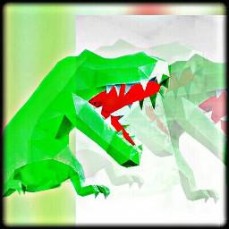 paper green dinosaur