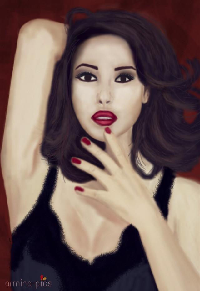 My new drawing! 😊 Monica Bellucci💞💕💄👑 #art #digital #drawing #wdpwomenportraits