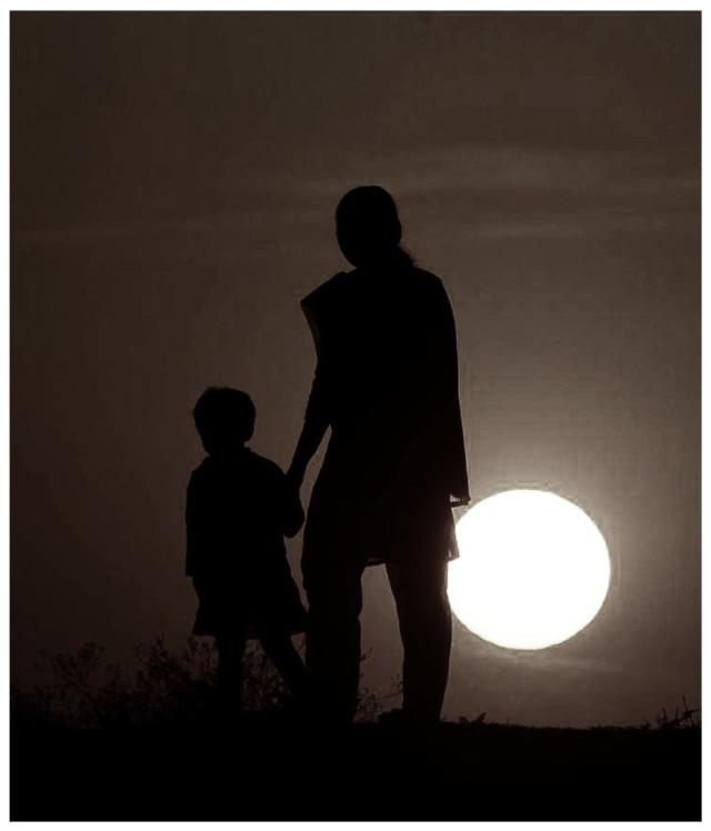 """""""Happy women's day"""" to all woman followers.. #dailyinspiration #WomensDay #silhouette #mother  #emotions #photography #quotesandsayings #colorful #sunset #sunrise #woman #people #baby #pa"""