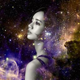 colorsplash space portraits picsart freetoedit