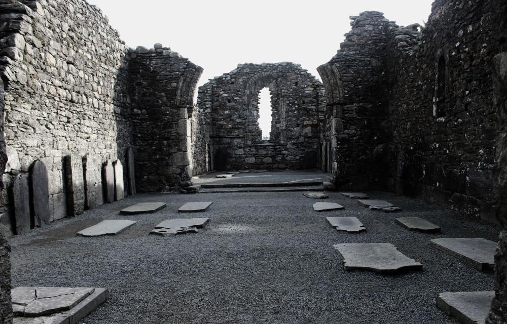 #blackandwhite #emotions #travel #history #ruins #church #ireland
