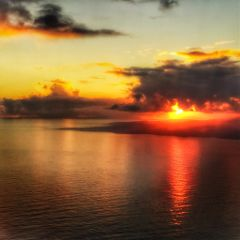 beach sunset hawaii freetoedit