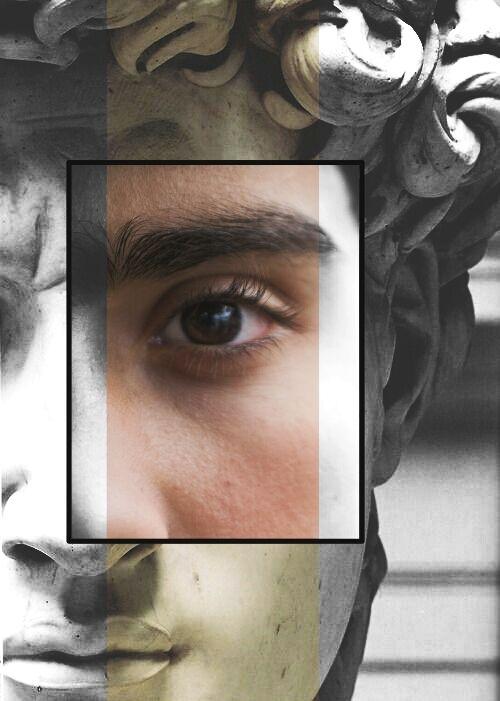 #picsart #frame #edited #sculpture #eyes #man #people #portrait #collage