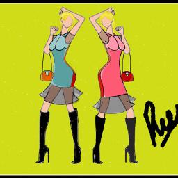 my sketch drawing dresses fashion